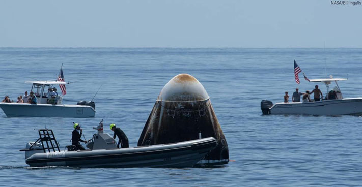 Gemini inflatable used for Spacex splashdown